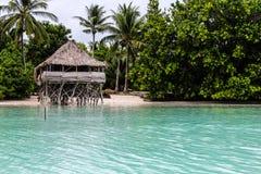 Mission d'île du Kiribati pendant l'été de 2016 Image stock