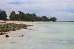 Mission d'île du Kiribati pendant l'été de 2016 Photographie stock