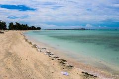 Mission d'île du Kiribati pendant l'été de 2016 Images libres de droits