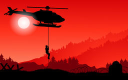 Mission d'hélicoptère Photos libres de droits