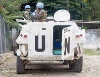 Mission de l'ONU en le Haïti Photographie stock libre de droits