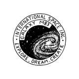 Mission de logo de Mars Exploration de la galaxie et de l'espace astronomiques Aventure pour l'astronaute d'astronaute Planète et illustration stock