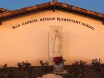 Mission de San Gabriel Image stock