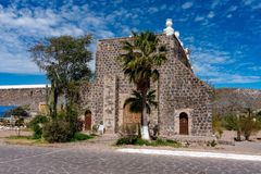 Mission de Santa Rosalia Baja California Sur Photographie stock libre de droits