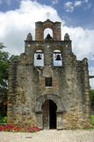 Mission Espada. Front of the church at Mission Espada in San Antonio Texas Stock Photo