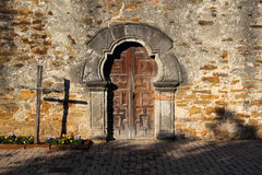 Mission Espada Entrance Stock Photography