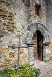 Mission Espada. Entrance to the chapel of the historical San Antonio Mission Royalty Free Stock Image