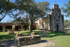 Mission espada in san antonio texas royalty free stock photo