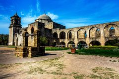 Mission espagnole San Jose, le Texas Photographie stock libre de droits