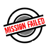 Mission Failed rubber stamp. Grunge design with dust scratches. Effects can be easily removed for a clean, crisp look. Color is easily changed stock illustration