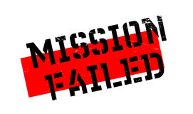 Mission Failed rubber stamp. Grunge design with dust scratches. Effects can be easily removed for a clean, crisp look. Color is easily changed Royalty Free Stock Image