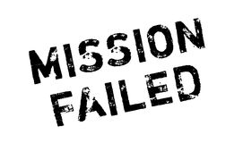 Mission Failed rubber stamp. Grunge design with dust scratches. Effects can be easily removed for a clean, crisp look. Color is easily changed Stock Image