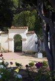 Mission Gate. Gate at Mission San Juan Bastica in Northern California Stock Images