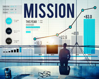 Mission Goal Inspiration Strategy Target Concept Stock Photos