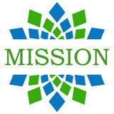 Mission Green Blue Elements Square Stock Image
