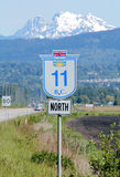Mission Highway Sign Stock Photography