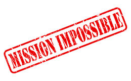 Mission impossible red stamp text royalty free illustration