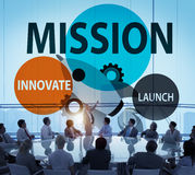 Mission Innovate Launch Success Goal Concept Royalty Free Stock Photography