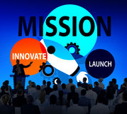 Mission Innovate Launch Success Goal Concept Royalty Free Stock Photos