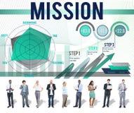 Mission Inspiration Aspiration Strategy Concept Stock Photos