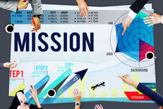 Mission Inspiration Aspiration Strategy Concept Royalty Free Stock Image