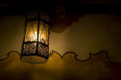 Mission lantern. Lantern on the wall of Carmel Mission. Symbol of hope and the source of light Royalty Free Stock Photo