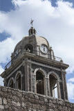 Mission Loreto Clock Tower in Baja Stock Image