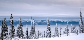 The Majestic Mission Mountains Reside on the Eastern Shore of Flathead Lake Royalty Free Stock Images