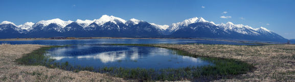 Mission Mountains Panorama stock photography