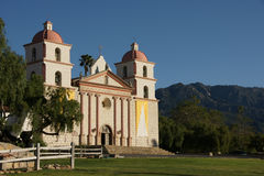 Mission Mountains Santa Barbara Stock Image