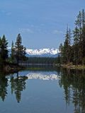 Mission Mts & Holland Lake. This image of the lake and the mountains in the background was taken in western MT Stock Photo