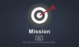 Mission Objective Goals Target Vision Strategy Concept Royalty Free Stock Photography