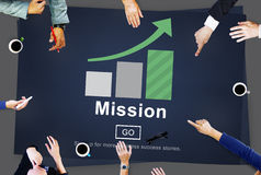 Mission Objective Goals Target Vision Strategy Concept Stock Image