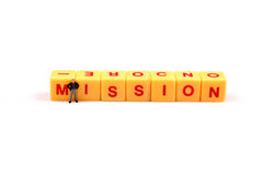 Mission priority Stock Image
