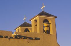 Mission or pueblo at sunset at Taos New Mexico Royalty Free Stock Image