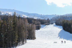 Mission Ridge Ski and Board Resort hills Stock Photos