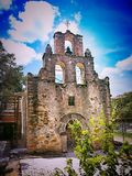 Mission in San Antonio Texas. One of the original Spanish Missions on the Mission Trail National Historical Site in San Antonio Texas, USA Royalty Free Stock Photos