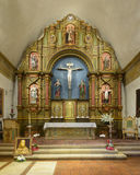 Mission San Carlos Borroméo del río Carmelo. Sanctuary and altar in the Mission San Carlos Borromeo del río Carmelo on Rio Road in Carmel-By-The-Sea Royalty Free Stock Photo