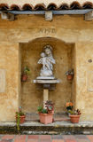 Mission San Carlos Borroméo del río Carmelo. Shrine outside the Mission San Carlos Borromeo del río Carmelo on Rio Road in Carmel-By-The-Sea, California Stock Images