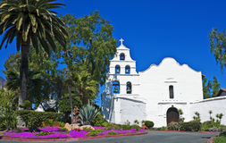 Mission San Diego de Alcala. First California mission stock photo