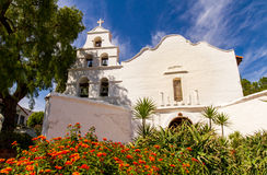 Mission San Diego. Is the first of the California missions founded by Franciscans in the 1700s stock photos