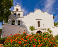 Mission San Diego. Is the first of the California missions founded by Franciscans in the 1700s royalty free stock photos