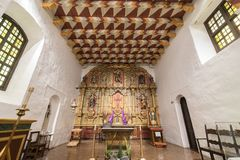 San Francisco, California - March 10, 2018: Interior of Church Altar of the Mission San Francisco de Asis, or Mission Dolores royalty free stock images