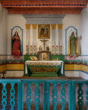 Mission San Francisco Solano. Altar in the chapel at the Mission San Francisco Solano on Spain Street in Sonoma, California Royalty Free Stock Photos