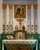Mission San Francisco Solano. Altar in the chapel at the Mission San Francisco Solano on Spain Street in Sonoma, California Stock Images