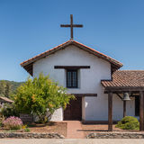 Mission San Francisco Solano. Exterior and entrance to the Mission San Francisco Solano on Spain Street in Sonoma, California Stock Images