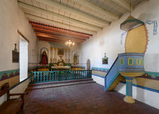 Mission San Francisco Solano. Interior of the chapel at the Mission San Francisco Solano on Spain Street in Sonoma, California Stock Photography