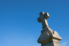 Mission San Gabriel Arcangel. April 3, 2016: Photo of Mission San Gabriel Arcangel cemetery cross,which is located in San Gabriel Californa USA stock images
