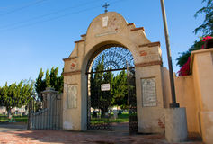 Mission San Gabriel Arcangel. April 3, 2016: Photo of Mission San Gabriel Arcangel cemetery,which is located in San Gabriel Californa USA royalty free stock images