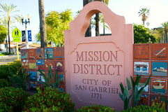Mission San Gabriel Arcangel Stock Photo